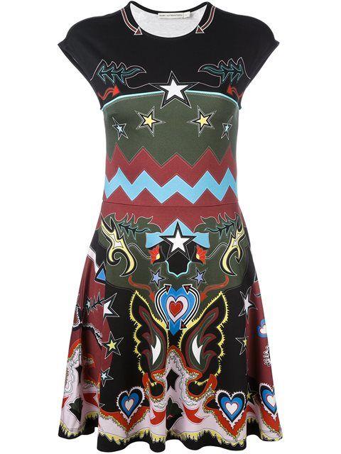 7b92a17544f4 MARY KATRANTZOU 'Pinto'几何牛仔印花连衣裙. #marykatrantzou #cloth #'pinto'几何牛仔印花连衣裙