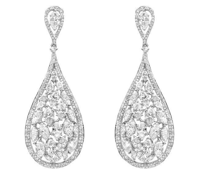 diamond cluster teardrop earrings from l a j a cluster of pear