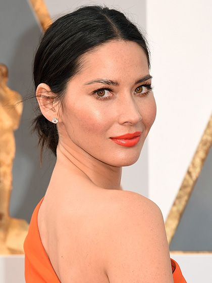 Olivia Munn, 2016 Oscars Chanel Rouge Allure Intense Long-Wear Lip Colour in Excentrique, $37 & Chanel Rouge Allure Intense Long-Wear Lip Colour in Pimpante, $37  chanel.com