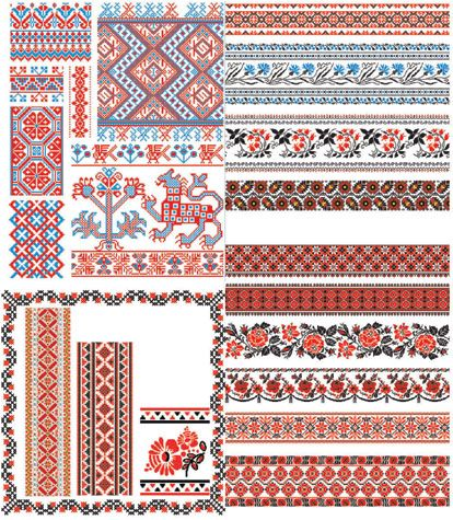 more russian folk art patterns!
