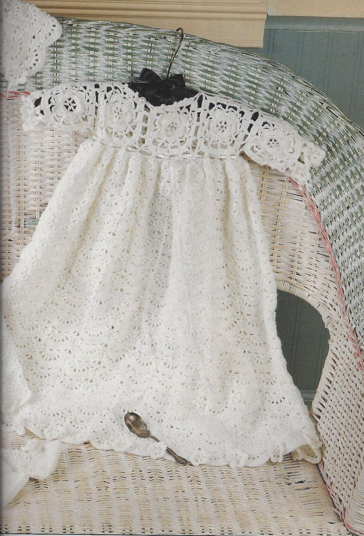 crochet christening gown patterns   Gorgeous Irish Rose Christening ...