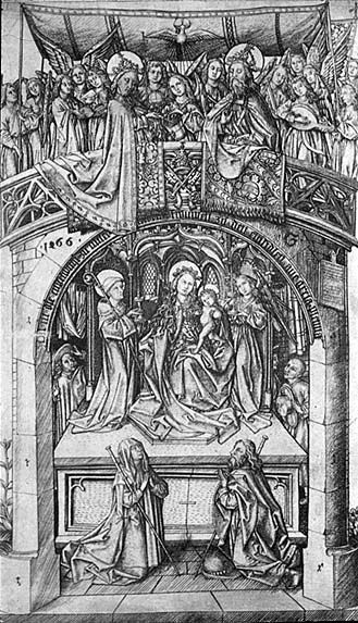Master Es Madonna Of Einsiedeln 1466 Engraving