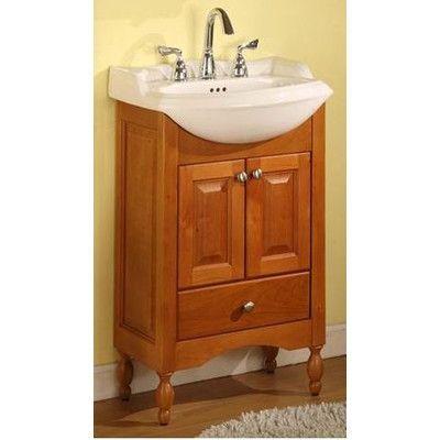 Charlton Home Simpkins Narrow Depth Bathroom Vanity Base Only