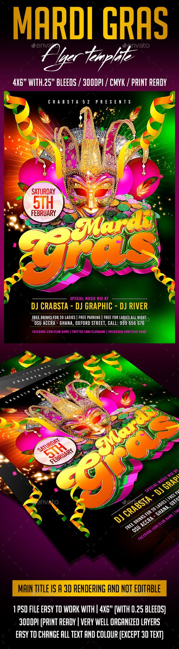 Pin by Cool Design on 3D Flyer Template Flyer template