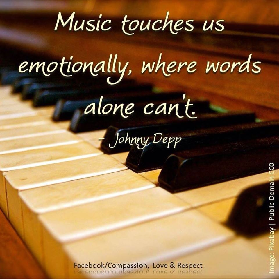 Music touches us