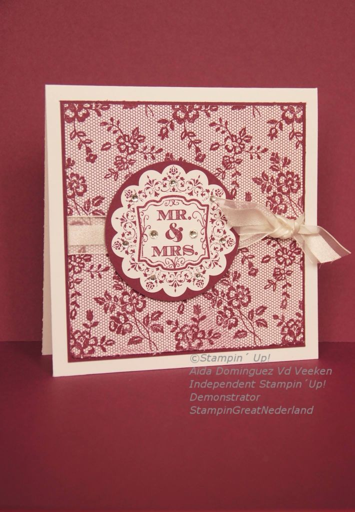 I Love Lace background stamp