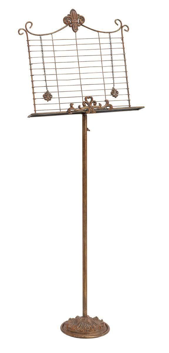 antique sheet music stand decorative