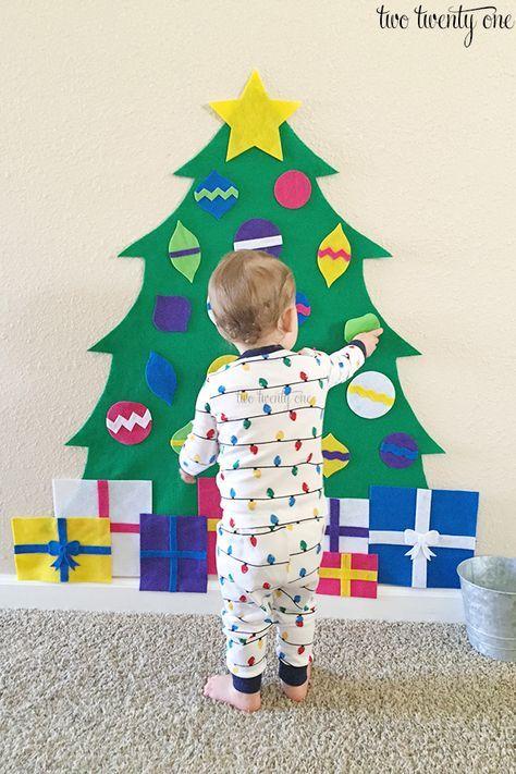 Felt Christmas Tree + Free Patterns   Felt christmas, Christmas tree ...