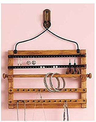 Wooden Bohemian Design Jewelry Hooks Storage Hanging