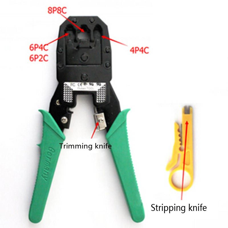 Network Cable Crimping Pliers Clamp Tool Stripping Pliers RJ45 RJ11 ...