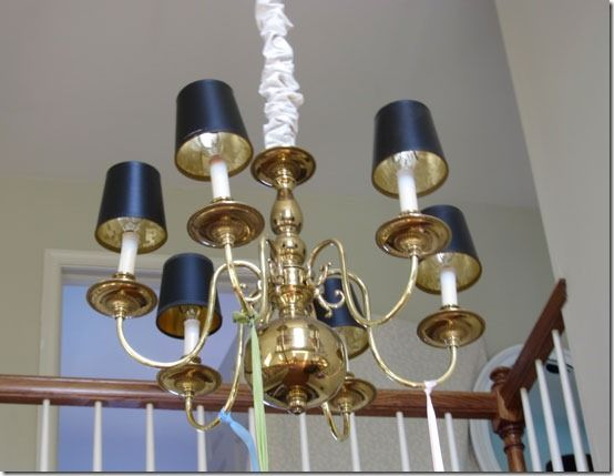 How i am updating an old brass chandelier lighting pinterest how i am updating an old brass chandelier mozeypictures Choice Image