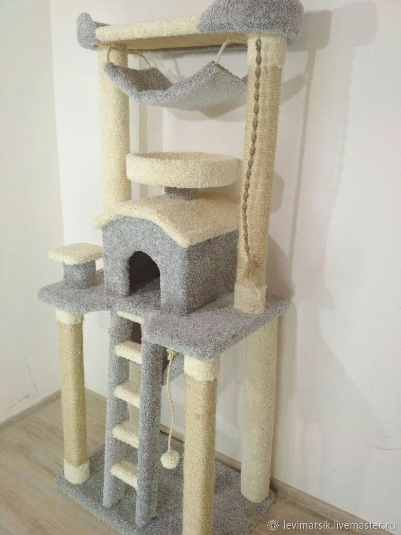 Домики для кошек с когтеточкой своими руками фото 244