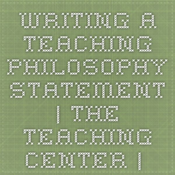 how to write a philosophy statement for early childhood education