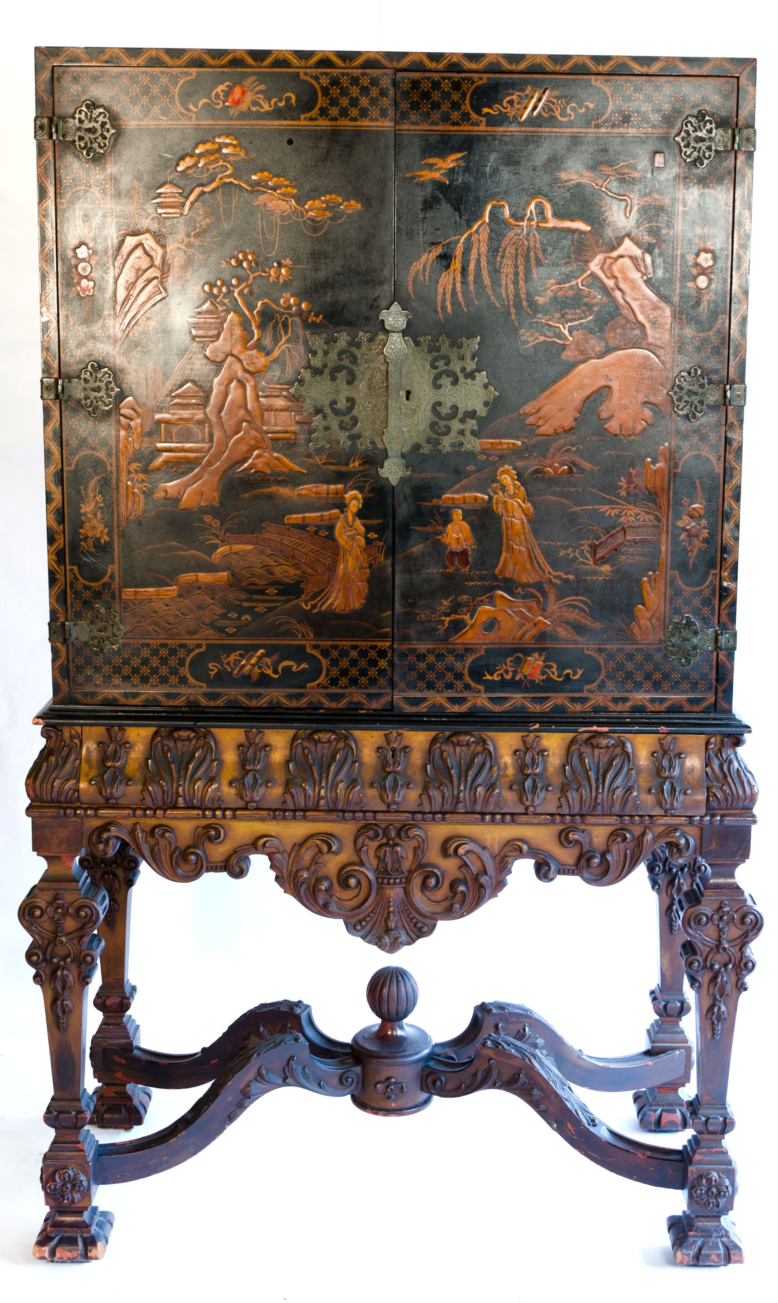 Chinoiserie cabinet pinteres for Oriental reproduction furniture