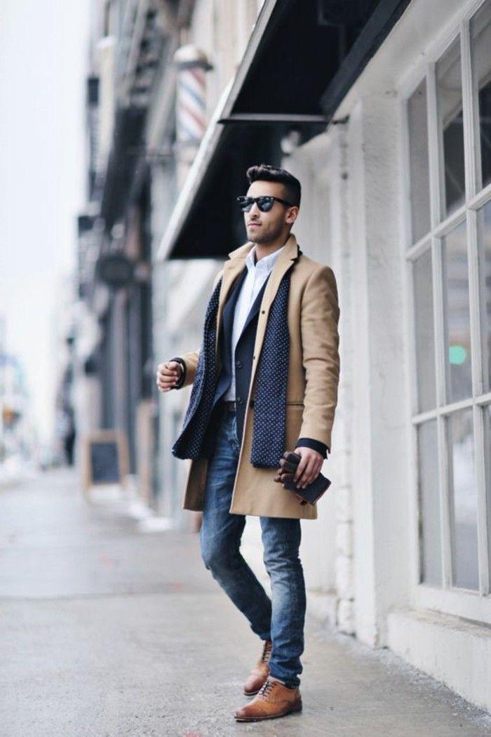 1001 ideen zum schal binden f r m nner mode homme hommes et tenue homme. Black Bedroom Furniture Sets. Home Design Ideas