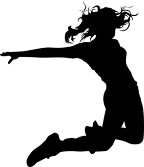 Hip Hop Jumping Dancer Design By Shirtforfun Hobbies Amp Interest T Dance Silhouette Dancer Silhouette Dance Logo