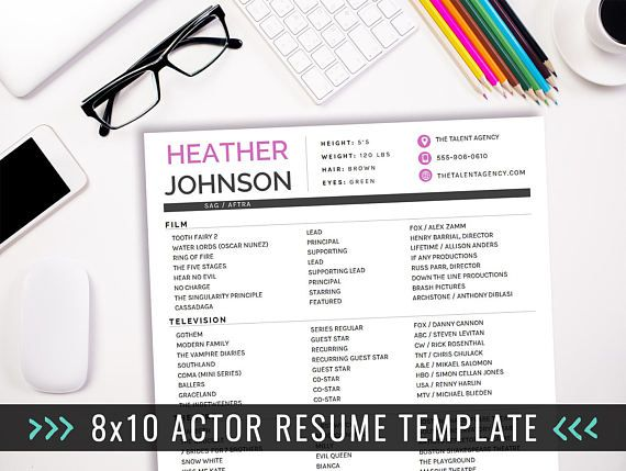Actor Resume Template, Acting Resume Ideas, Creative Resume, Actor - actors resume template