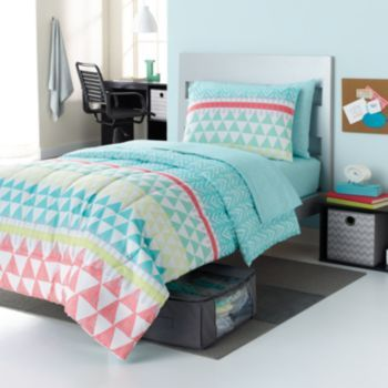 Simple By Design Elaina Tribal 8 Pc Reversible Dorm Bed
