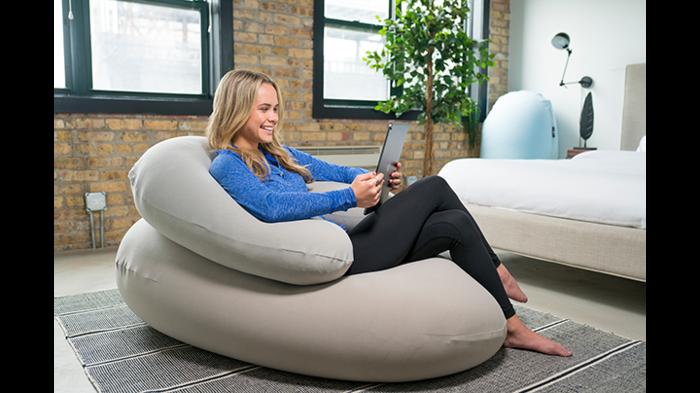 Crescent in 2020 Home yoga room, Pod chair, Bean bag chair