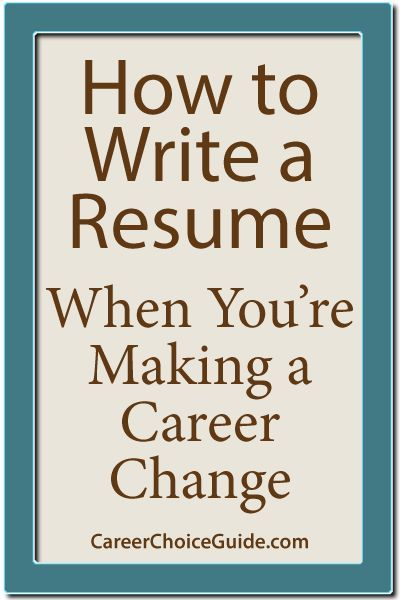 How to write a career change resume - Repinned by Chesapeake College