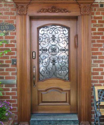 Grand Doors Wood Entry Custom Wrought Iron Brooklyn New York City Jersey Nj