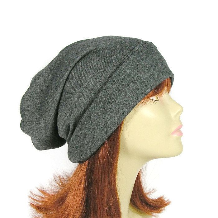 aef1108d420 Long Slouch Hat Mens Gray Slouch Hat Do Rag Turban Slouchy Beanies Unisex Extra  Slouchy Beanie Womens Extra Slouchy Beanie Gray Slouch Hat by LooptheLoop  on ...