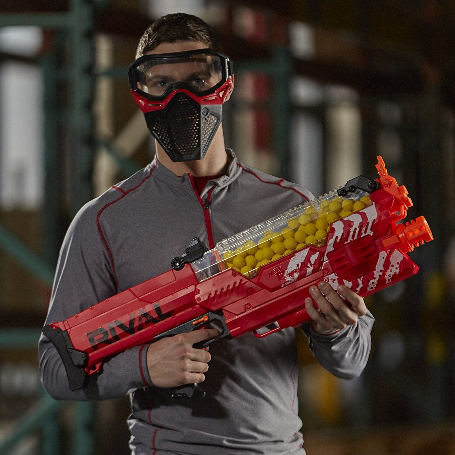 Nerf Rival Nemesis - The hockey mask is a bit much http://www