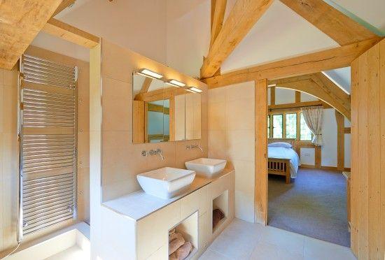 Master bedroom en suite bathroom with a floor to ceiling ...