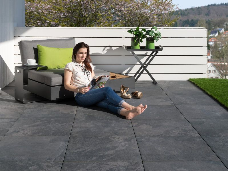 Platten Schieferoptik Alpine Black Terrassenplatten Terassenplatten Terrassen Platten