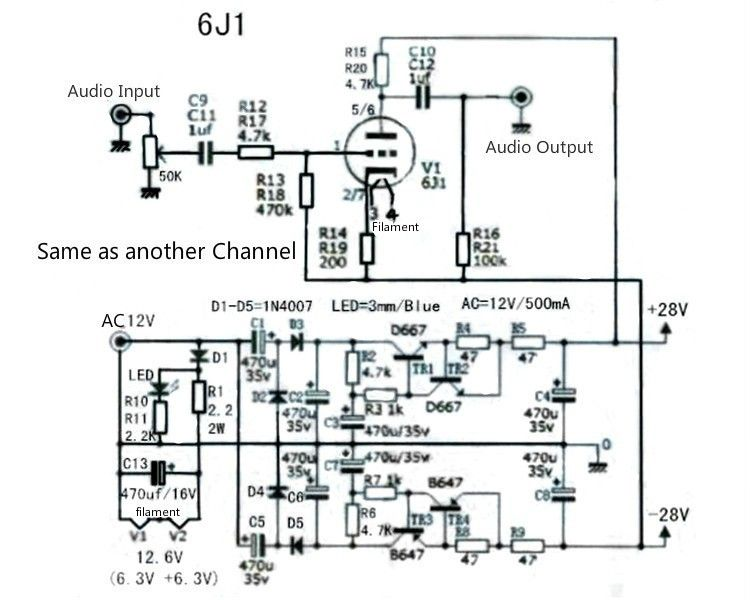 Aliexpress.com : Buy TIANCOOLKEI 6J1 tube preamp amplifier board Pre