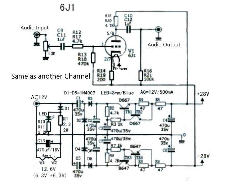 Aliexpress com : Buy TIANCOOLKEI 6J1 tube preamp amplifier