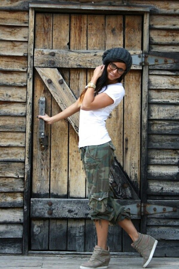 Image result for camouflage capris juniors