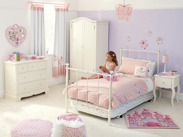 Pin by julia on hd wallpapers white metal bed girls - Bed frames for small rooms ...