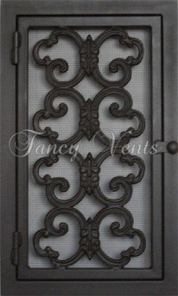 Decorative Cast Iron Vent Cover 12 x 24 Ramsey Vent