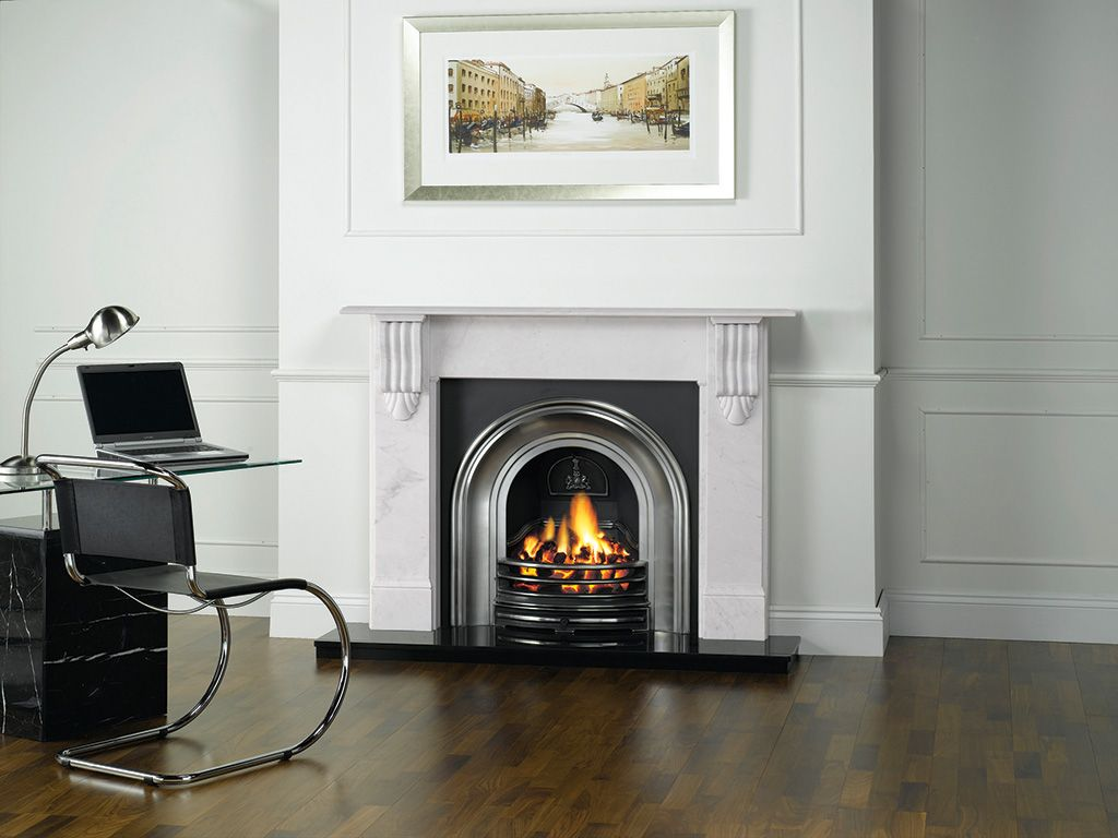 Gazco Classical Arched Cast Iron Insert Fireplace - Canterbury Fireplaces Blackburn