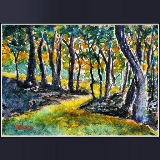 Woodland watercolor.