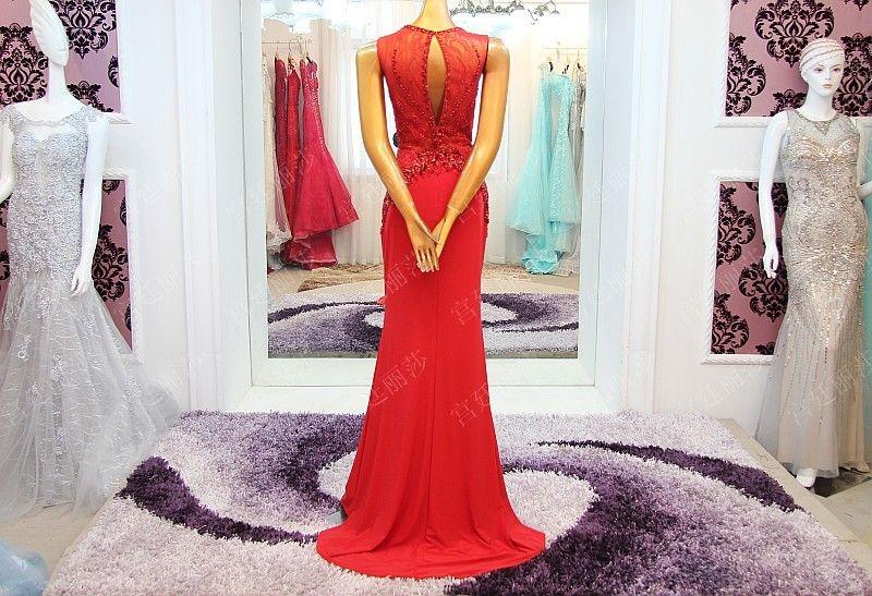 极致奢华水晶礼服韩版韩式礼服新娘结婚敬酒礼服晚礼服xj50067 Crystal Dress Evening Dresses Korean Dress