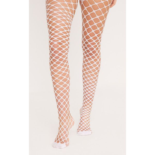 a26529e9e Cait White Diamond Fishnet Tights (€3