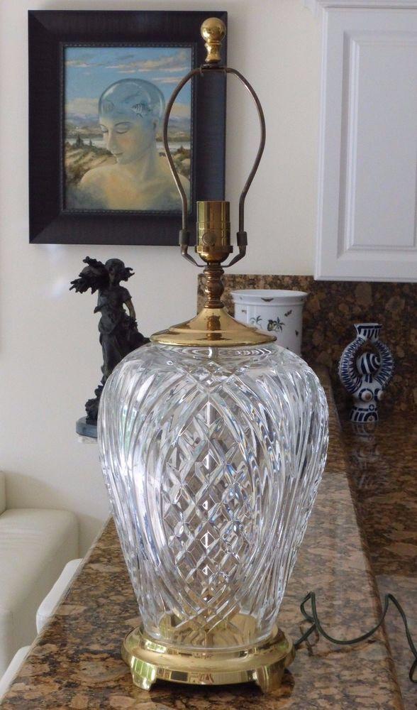Waterford Crystal Large Kilkenny Crystal Table Lamp 26 3 4 Tall Crystal Table Lamps Waterford Crystal Lamp