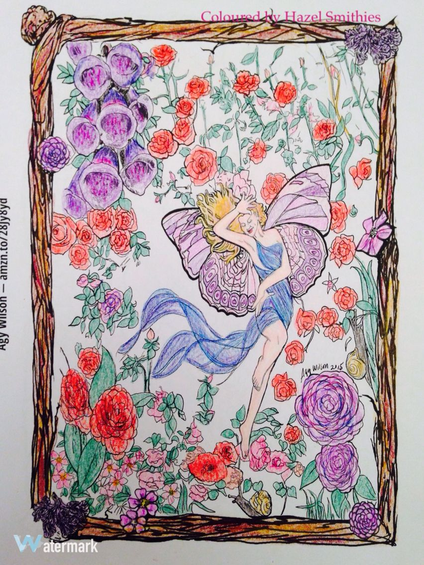 Picture by Agy Wilson from Adult Coloring Book Treasury 2. In Prismacolor Premier pencils