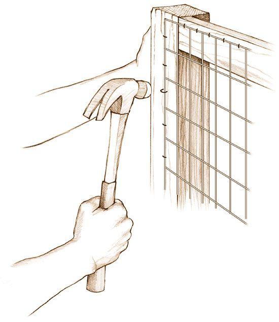 Mesh Fencing Installation Basics - DIY | chalet in 2019