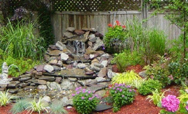 C mo hacer una cascada en el jard jardines for Cascadas de piedra para jardin