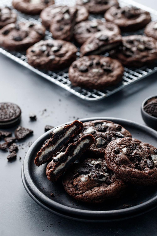 Cream Stuffed Chocolate Cookies N Cream Cookies Love And Olive Oil Recipe Cookies N Cream Cookies Chocolate Cookies Chewy Cookie