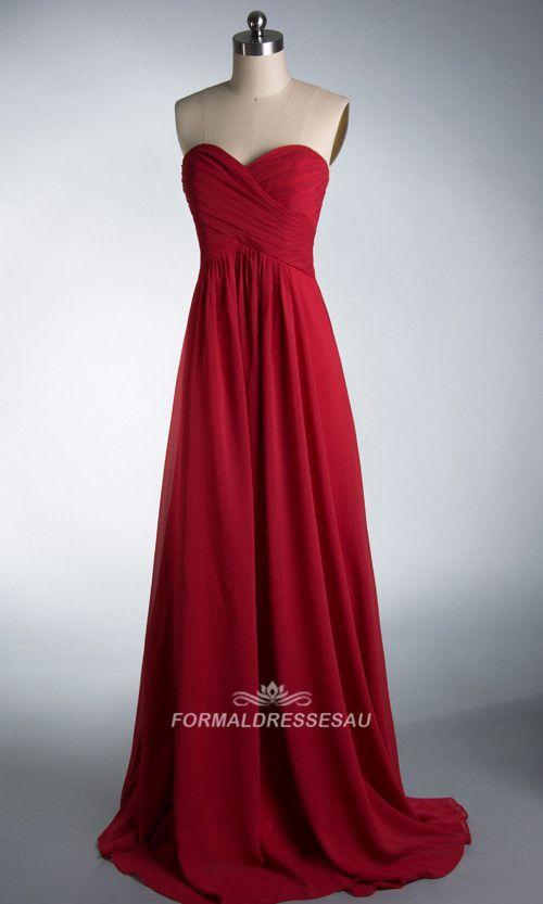 #formaldressesau# beautiful red bridesmaid dresses 2014