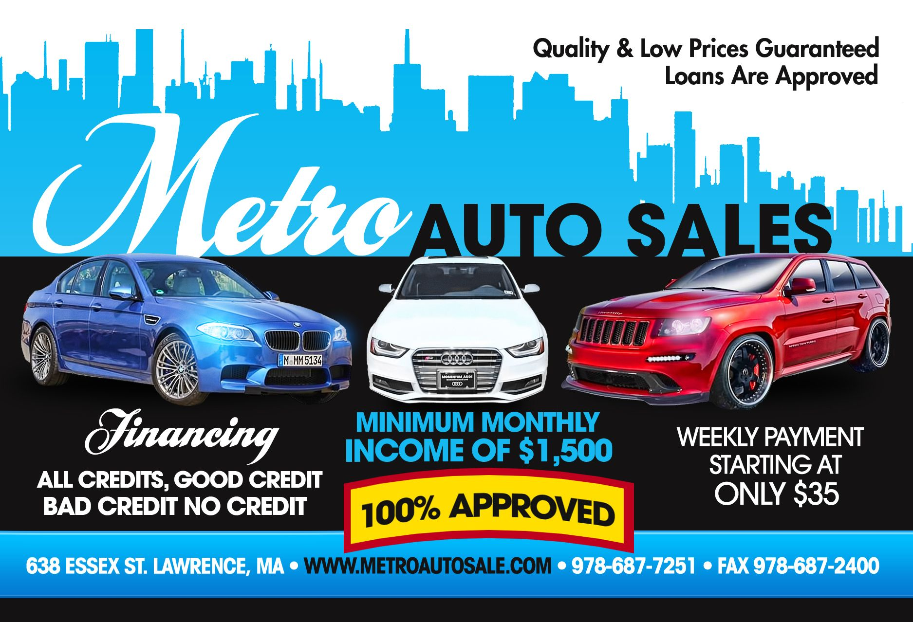 Bb Auto Sales >> Used Cars Pickup Trucks Specials Lawrence Ma Metro Auto
