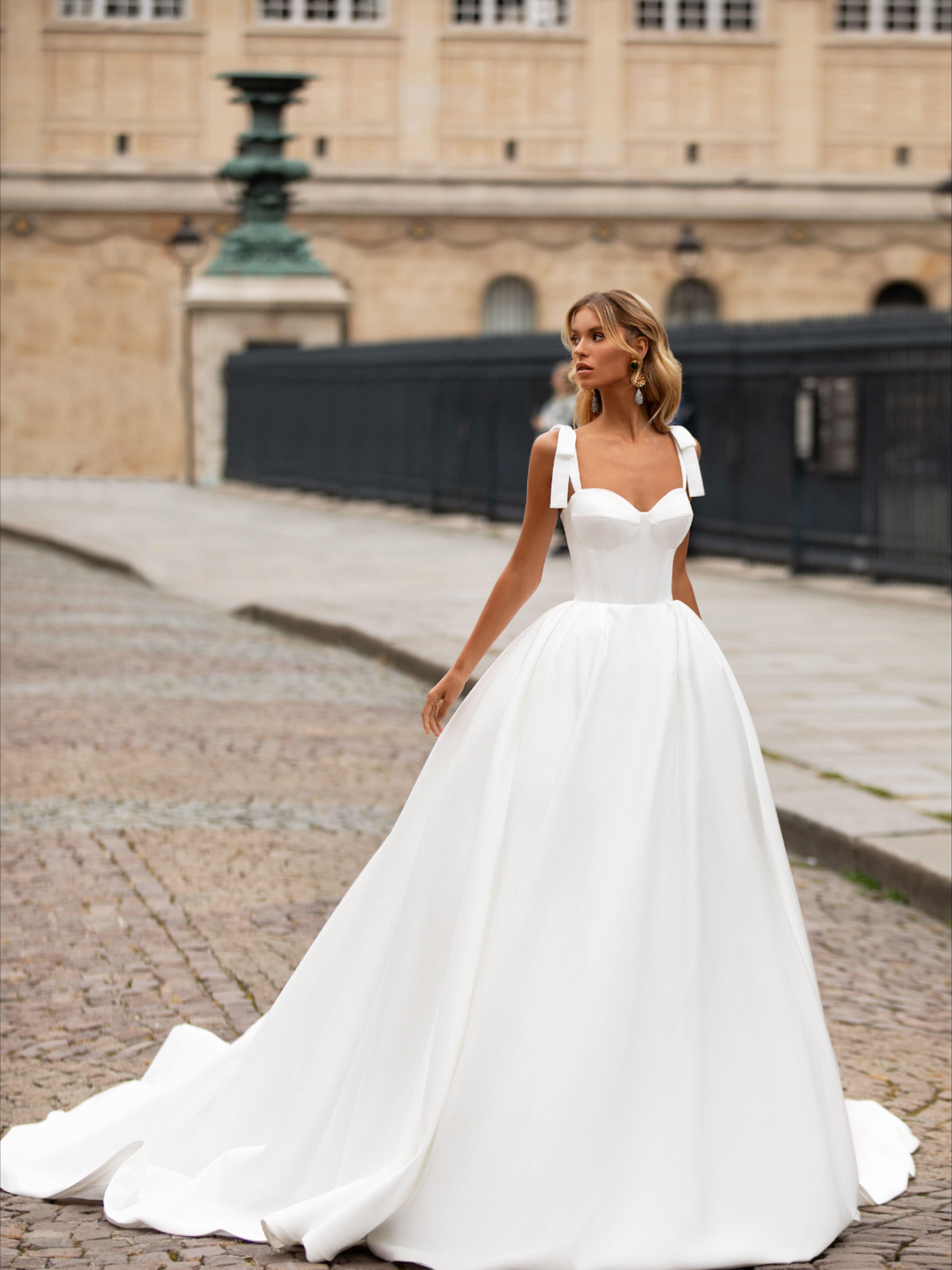 Blisse Wedding Dress From Milla Nova In 2020 Ball Gowns Wedding Wedding Dresses Satin Milla Nova Wedding Dresses