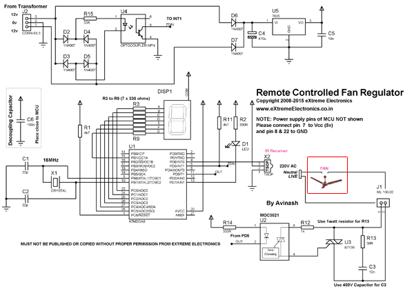 remote controlled fan regulator schematic | ETRX in 2019 ... on