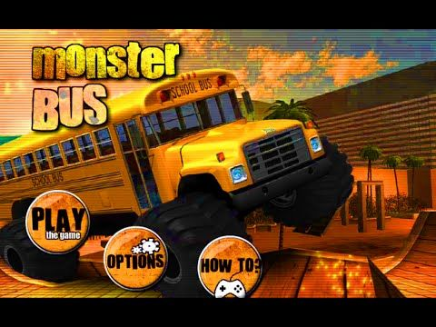 Monster Truck Bus Car Game Cartoon For Kids Cartoon Movie Car
