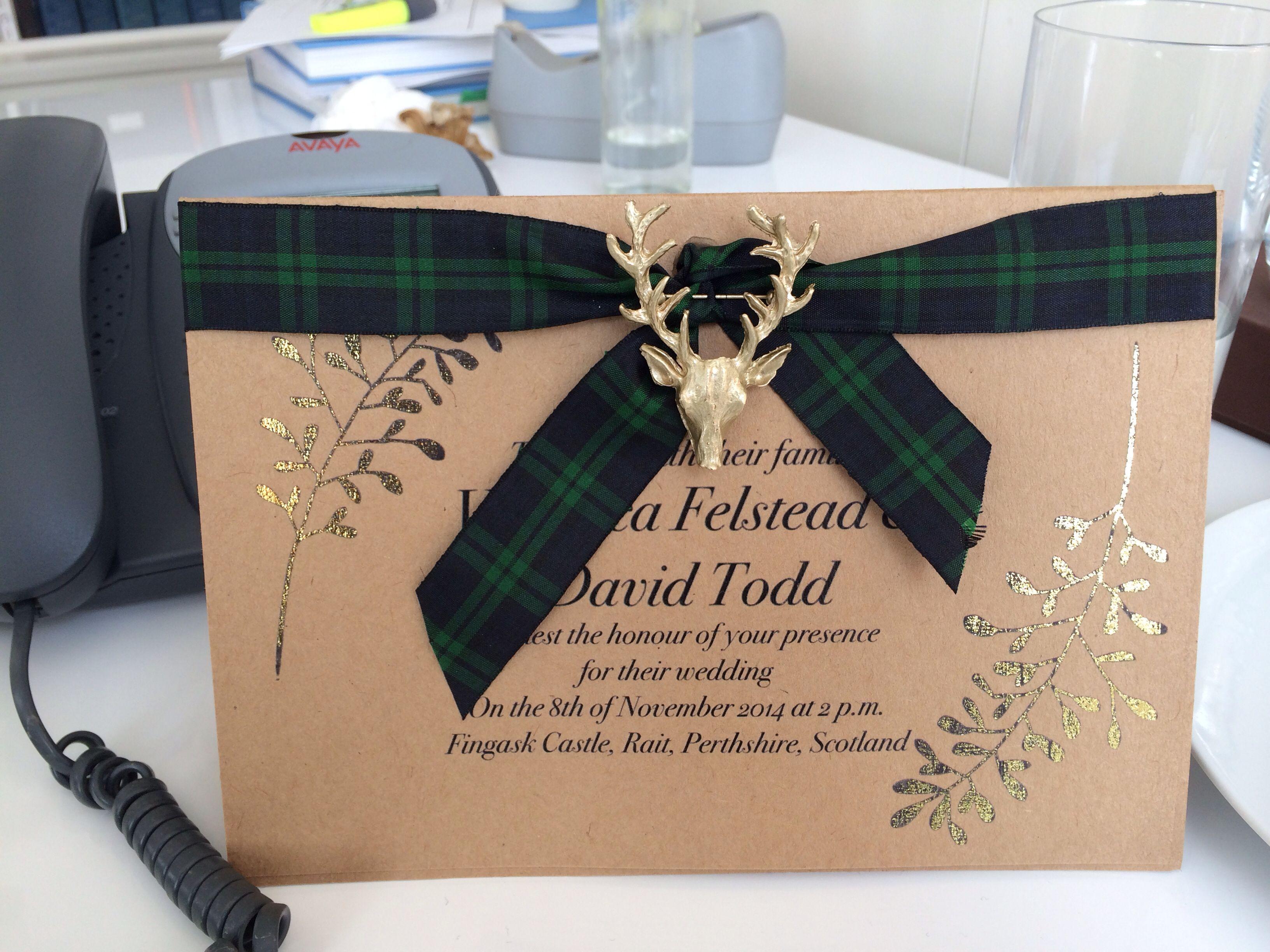 My scottish wedding invitation httpwwwdavidandveronica