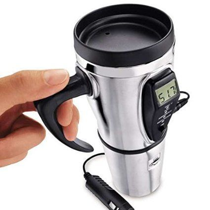 Stainless Steel Electric Smart Mug Keeps Your Coffee Hot While You Re On The Road